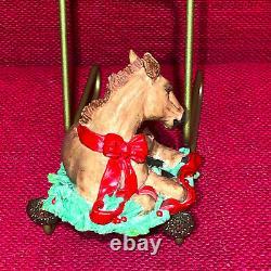 Tom Rubel Christmas Animals Colt Pony Foal Horse RARE Vintage