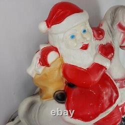 Union Blow Mold Santa Rocking Horse Christmas Don Featherstone Light Up Vintage
