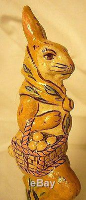 Vaillancourt Folk Art Rabbit With Umbrella Ltd Signed