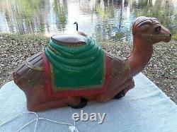VINTAGE General Foam Camel Blow Mold Nativity Animal Manger dated 07 01 71