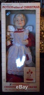 VINTAGE NEW IN BOX Telco Motionette Animated Lighted Christmas MOVING FIGURE