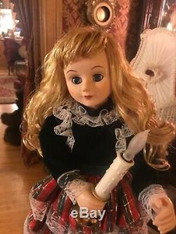 VTG. Rare TELCO MOTIONETTE Animated Christmas Victorian Plaid Girl Lady 24 VIDEO