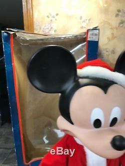 VTG Santas Best Christmas Disney Mickey Mouse 26 Animated WithBox CANDY CANE