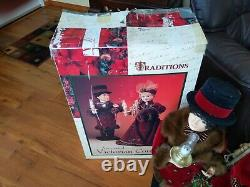 VTG TRADITIONS ANIMATED VICTORIAN CHRISTMAS Holiday Animated Moving 26 BOY GIRL