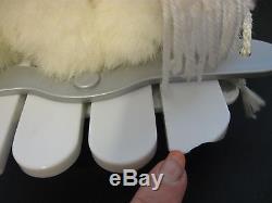 VTG XMAS ANIMATED MOTIONETTE SNOW GIRL ESKIMO POLAR BEAR SLED 16 LONG withADAPTER