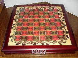 Vaillancourt Christmas Chess Set In Wood Case