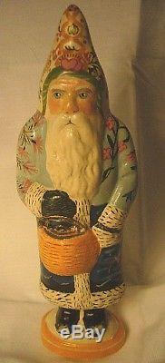 Vaillancourt Folk Art Nantucket Santa withBaskets