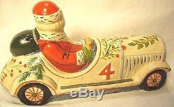 Vaillancourt Folk Art Santa Driving Car Personally Signed Judi