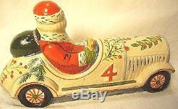 Vaillancourt Folk Art Santa Driving Car Signed Judi