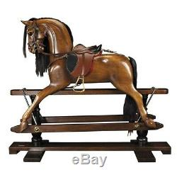 Victorian Handmade Real Solid Wood 56 Rocking Horse