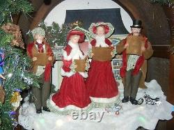 Victorian Large 18 Inch 4 Piece Deluxe Caroler Set Christmas Rare (new) R-4
