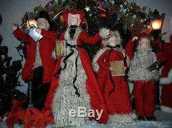 Victorian Large 22 Inch 4 Piece Deluxe Caroler Set Christmas Rare (new) H-4
