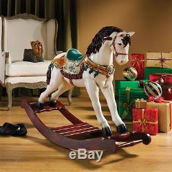 Victorian Style Fantasy Carousel Rocking Horse Christmas Holiday Display Statue