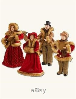 Victorian Trading Co 4 Piece Christmas Caroling Family Figurines New Free Ship