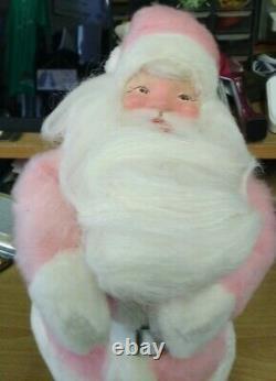 Vintage 15 Harold gale 1960's Pink Fur Santa Claus Mary Kay