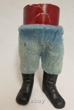 Vintage 1920's German Santa Woodcutter Paper Mache Candy Container 10.5
