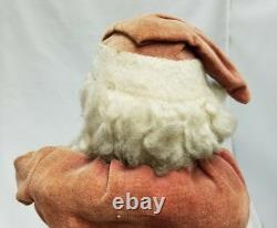 Vintage 1920's Santa Woodcutter Paper Mache Candy Container 15