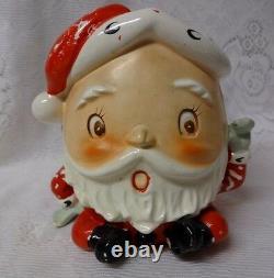 Vintage 1940s Napco Christmas Santa Humpty Dumpty Planter