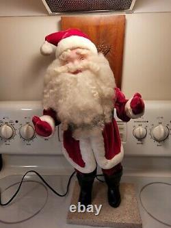 Vintage 1960s Harold Gale Electric Animated Store Display Santa Claus