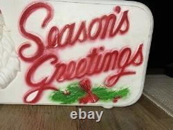 Vintage 1973 Dapol Plastics Seasons Greetings Blow Mold NICE