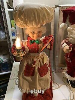 Vintage 1990s Telco Motionettes Mrs Clause Cooking Santa Checking His List 26