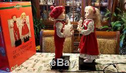Vintage 1993 Christmas Traditions 24 Animated & Lighted Boy & Girl