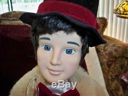 Vintage 27 Motionette Teleco Animated Victorian Christmas Couple