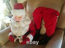 Vintage 38 Harold Gale Red Velvet Santa Claus Christmas Store Display
