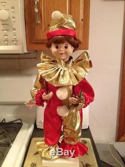 Vintage ANIMATED TELCO MOTIONETTE CHRISTMAS Holiday ELF JESTER CLOWN RARE