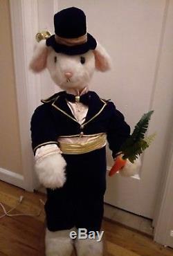 Vintage Animated Mechanical Ottinger Easter Rabbit Boy Store Display w Video