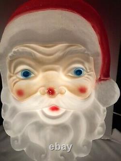 Vintage Empire Plastic Blow Mold 24Christmas Decor Santa Claus Face Head Light