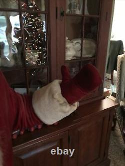 Vintage Harold Gale Mechanical 1950's Santa Christmas Store Window Display