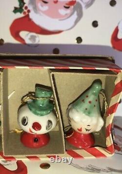Vintage Holt Howard Christmas Ornaments RARE