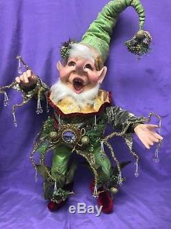 Vintage Mark Roberts Icicle Christmas Elf Size Medium 22 W Box Mint Condition
