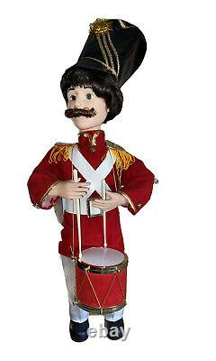 Vintage Motion-ette Animated Telco Christmas Holiday Soldier Drummer