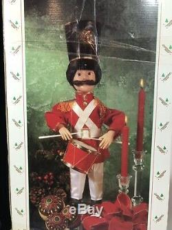 Vintage Motion-ette Animated Telco Christmas Holiday Soldier Drummer Band w box