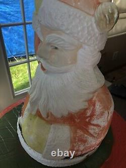 Vintage Poloron Santa Sleigh Blow Mold Christmas Yard Light Decor Decoration