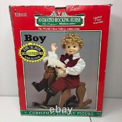 Vintage Porcelite Telco Rocking Horse Boy Animated Motionette Christmas Figure