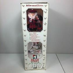 Vintage Porcelite Telco Scottish Santa Animated Motionette Christmas Figure 80s