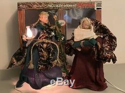 Vintage Rage Telco Motionette Animated Nativity Joseph Mary & Baby Jesus In Box