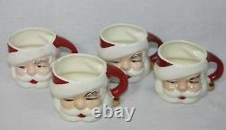 Vintage Santa Claus Eggnog / Punch Bowl, 8 Mugs, Ladle 1955 Christmas