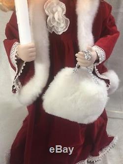 Vintage Santas Best Animated Porcelain Doll Patricia 24 Rare Excellent Working