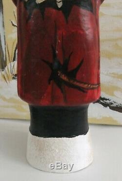 Vintage Style German Krampus Belsnickel, Horns, Chains, handpainted back details