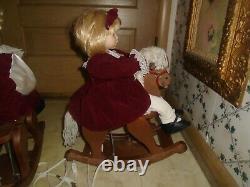 Vintage Telco Animated Boy & Girl On Rocking Horse Motion RARE