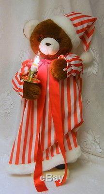 Vintage Telco MOTION-ettes Animated Illuminated Electric Christmas Bear Figure