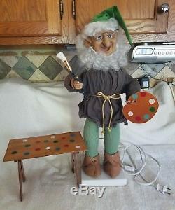 Vintage Telco MOTION-ettes of Christmas Animated Display Figure Santa's Elf