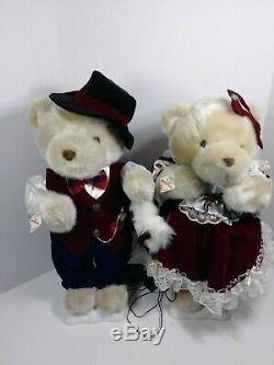 Vintage Telco Motion-Ettes Christmas bears male & female animated 23 figures