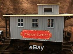 Vintage-The Red Nose Express Train Set Memory Lane-Christmas Tree-Pre-Owned