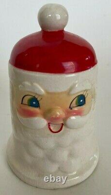 Vtg 1960s Holt Howard Japan Smiley Santa Ceramic Dinner Bell MCM Christmas