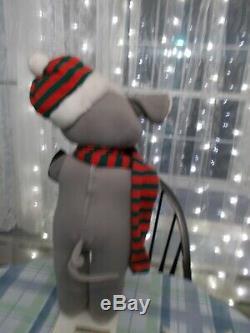 Vtg 1986 Telco Motion Ette Animated Lighted Christmas Snowball Mouse